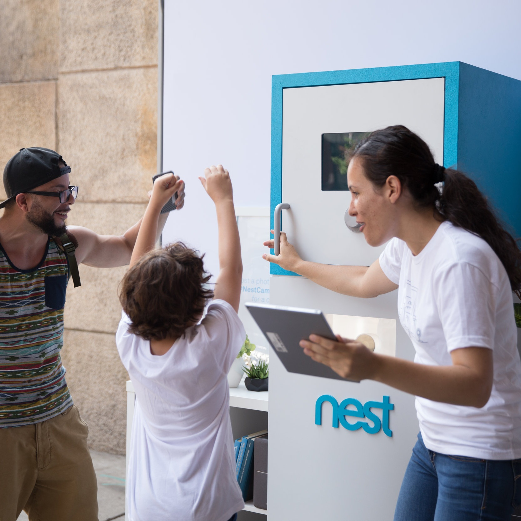 NEST HEIST - A Nest Cam IQ safe tests your IQ against the product by timing your ability to crack the code.