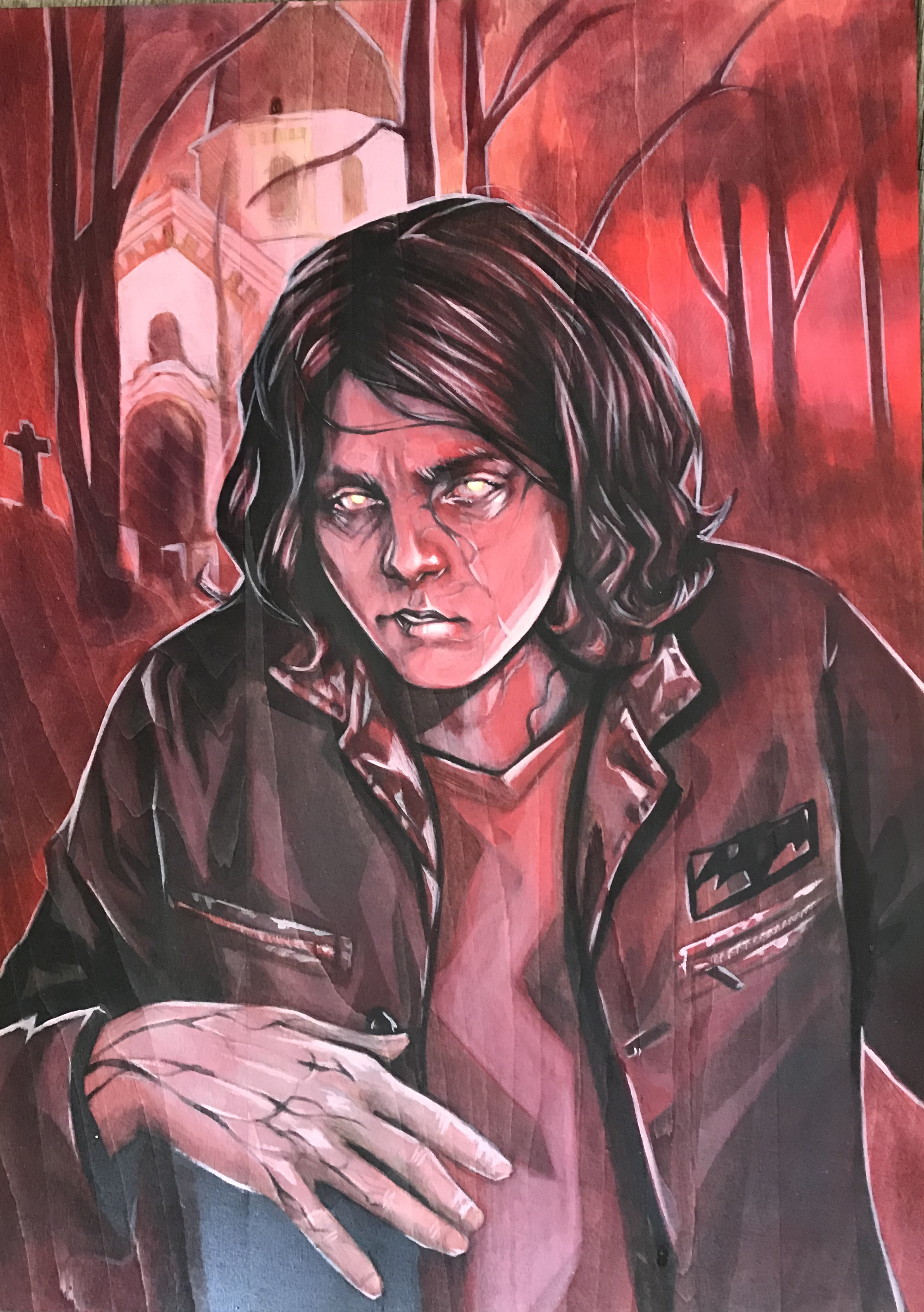 A fairly recent painting Lisa did of Gerard.