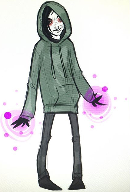 A really old drawing Joy did of Frank. Magic hands.