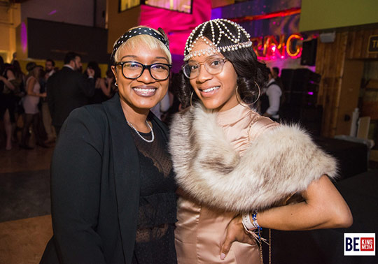 Copy of 2 young women in roaring 20s costumes pose at the 2019 Hide N Seek