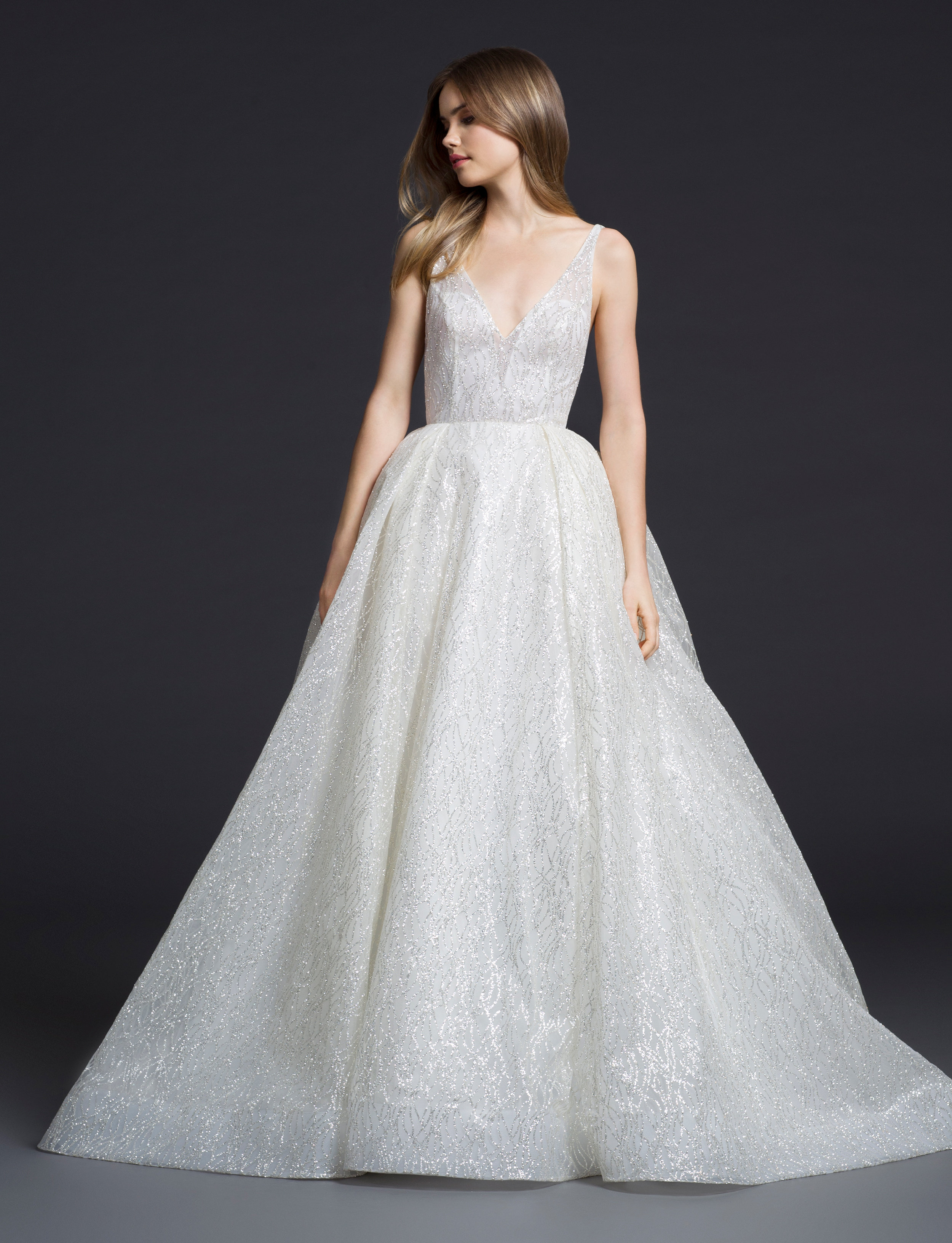 3 6 6 2    :  If you're looking for the perfect real-world Cinderella gown, look no further. The classic V cut frames the torso beautifully, while the box-pleat skirt are sure to make your ballgown dreams come true.
