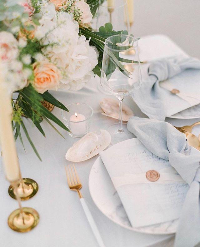 S O M E T H I N G  B L U E 💙  That moment your table matches your chic beach wedding vibe!         #rochesterbride #syracusebride #bridalboutique #nybride #torontobride #canadianbride #coutureweddinggown #sneakpeek #gettingmarried #futuremrs #isaidyes #weddingforward #shesaidyes #engaged #proposal #weddingplanning #bridetobe #ido #marryme #bride2be #engagedlife #heputaringonit #instawed #justengaged #weddinginspo #howheasked #weddingideas #bridalstyle #beachwedding