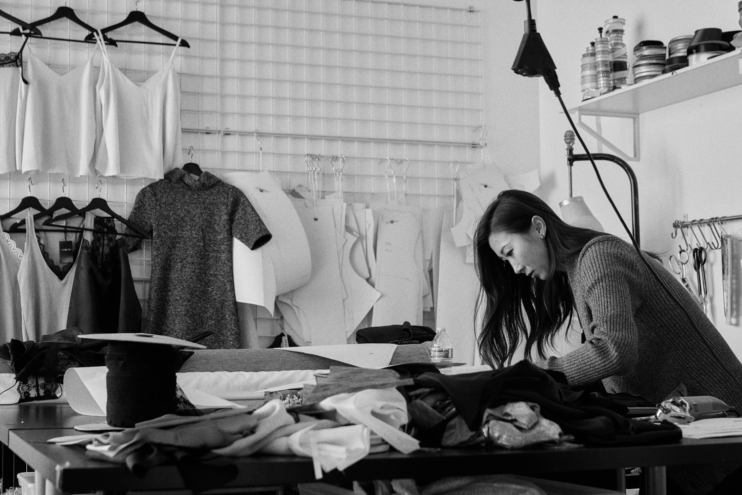 Kelly at work in her production studio, December 2018.