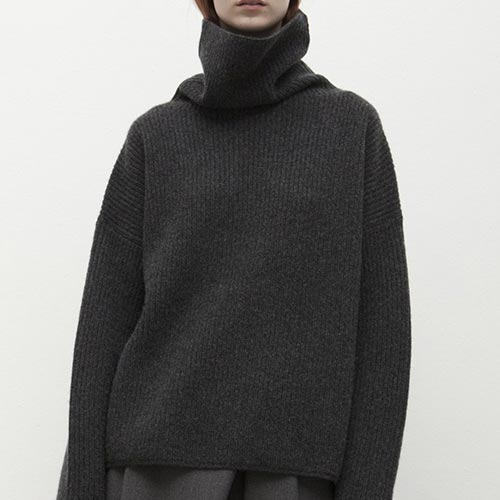 S C H A I  - Cozy Cashmere Funnel Neck Sweater