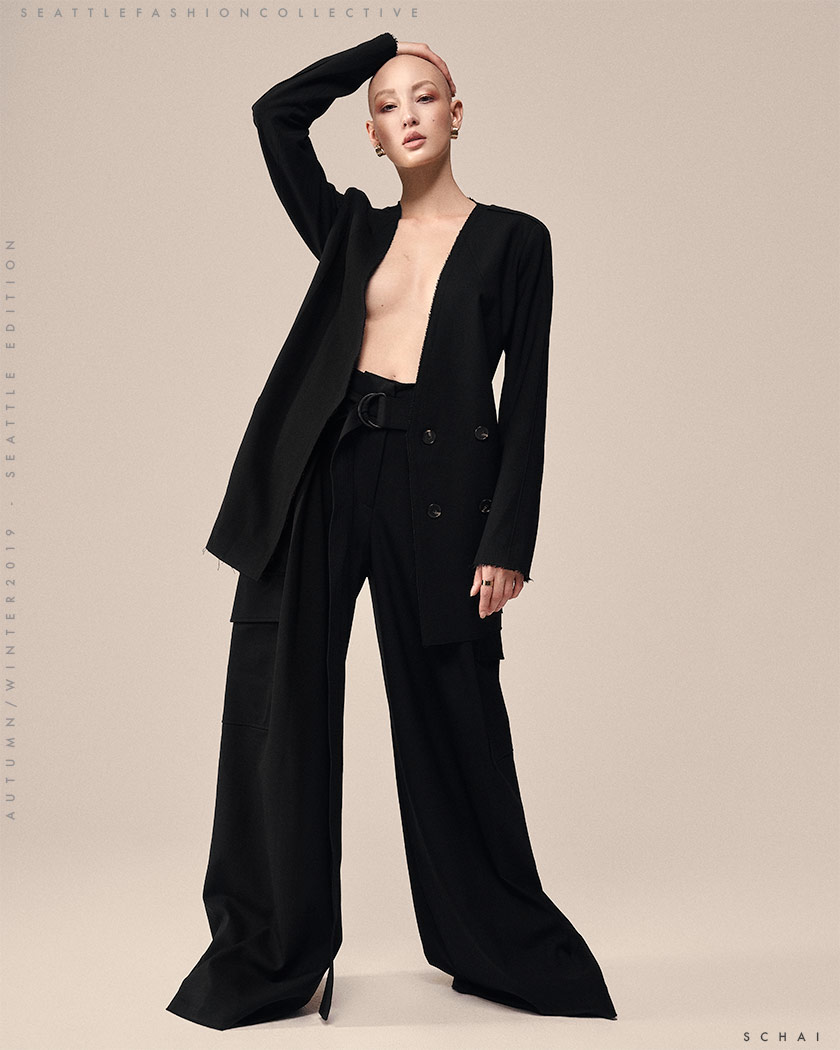 S C H A I  - Victoire Belted Blazer  S C H A I  - Magnum Belted Trouser