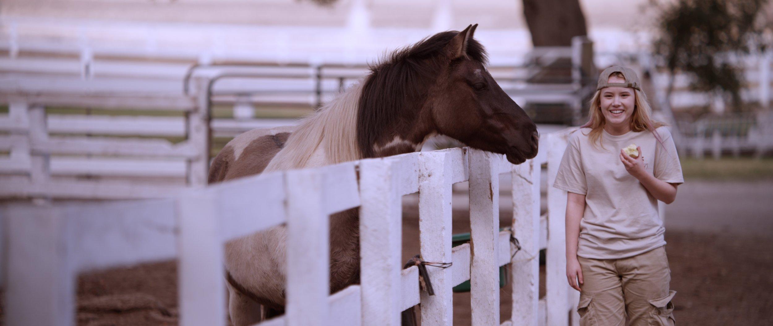 Hannah and horse Betsy at Maheo.jpg