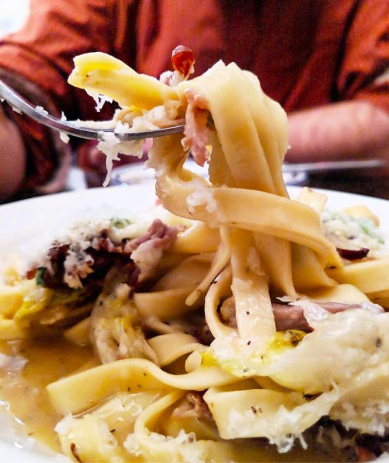 Fettuccine, Pork, Provolone