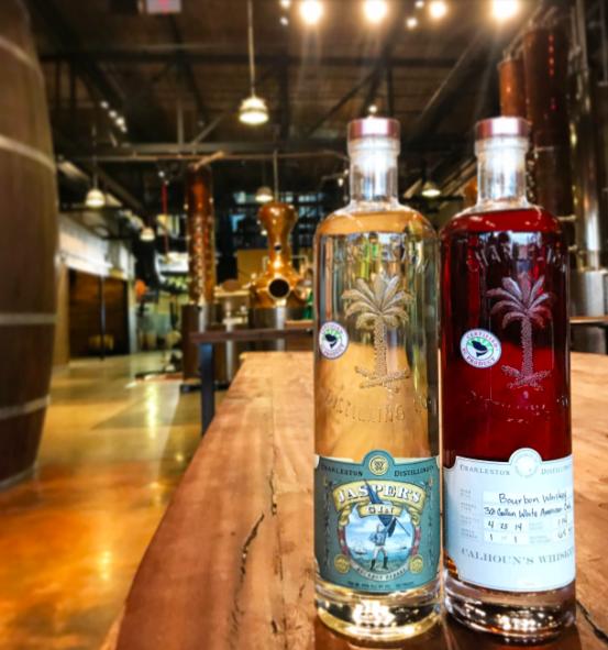 Charleston Distilling    Jaspers Gin + Bourbon Whiskey