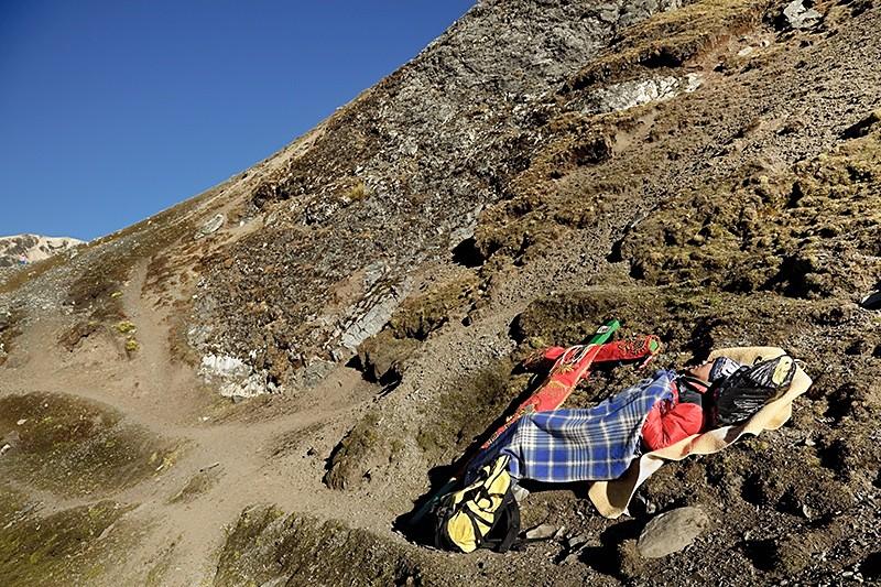 Peregrino en el Señor de Qoyllorrity, Cusco 2009