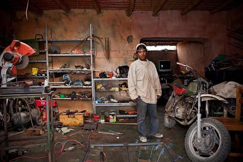 Triqui en su casa y trabajo, El Carmen 2011