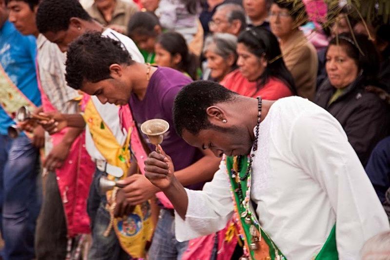 Roberto bailando para San Juan Bautista, El Carmen 2011