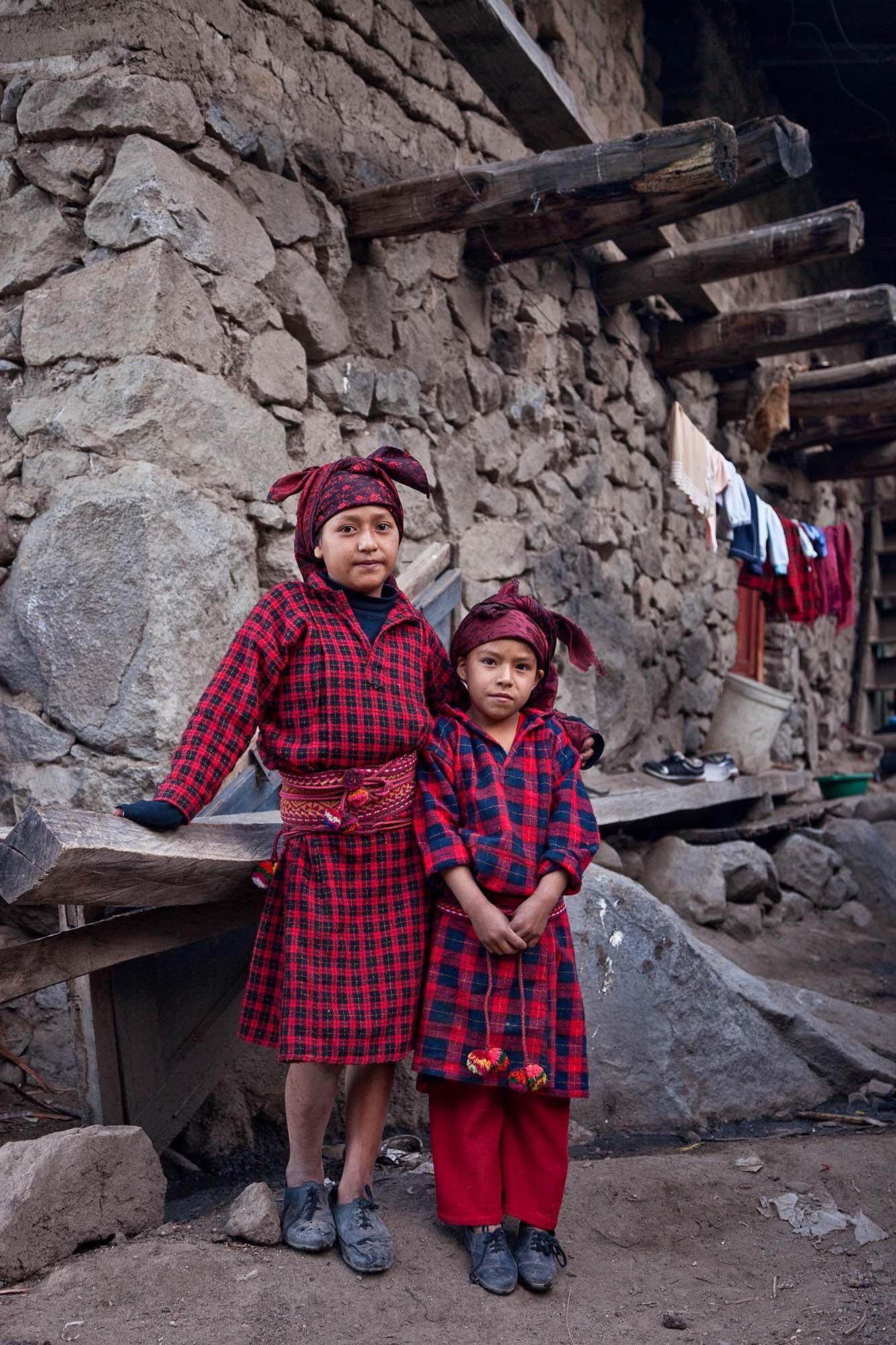 Elisabel & Lucy Lazaro-Ramirez getting ready for school.