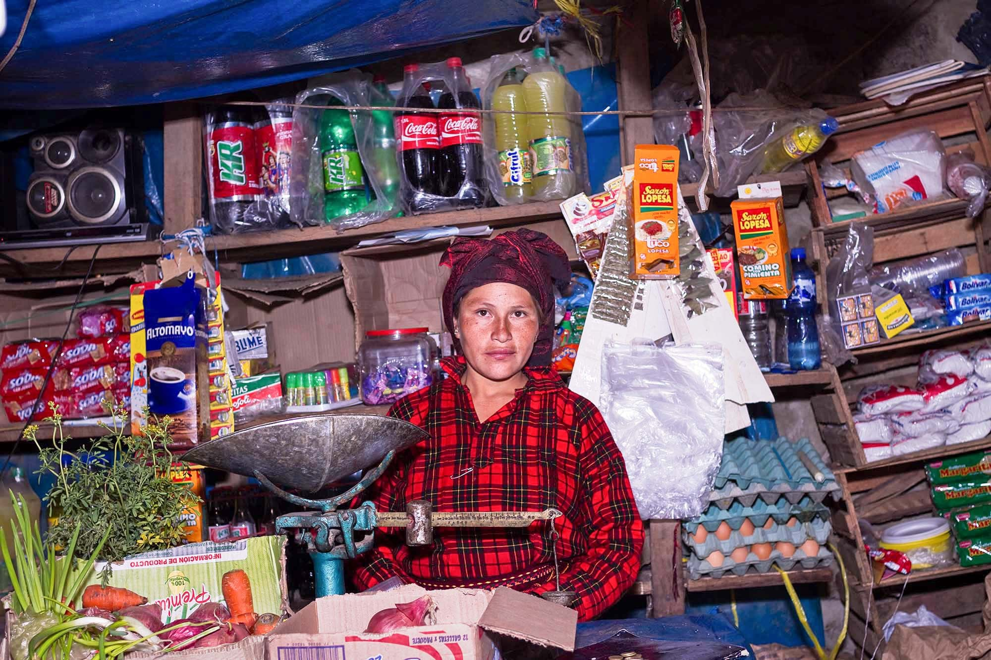 There are a few stores in Tupe.  Doris carries basic food to complement the local harvest.
