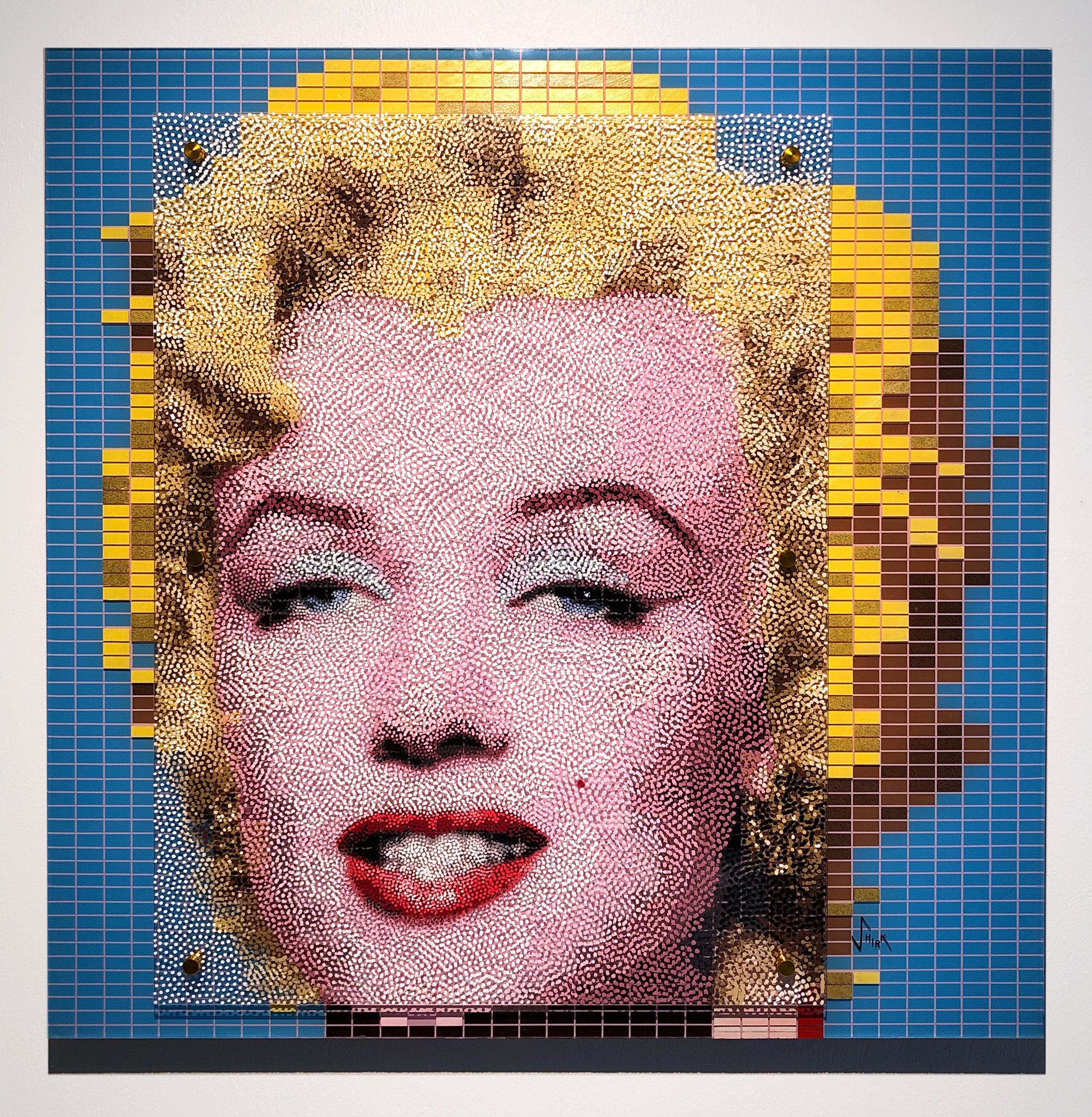 "Andy Warhol's Marilyn - Dotted!   Acrylic on 3 sheets of plexiglass, 36"" x 36"""