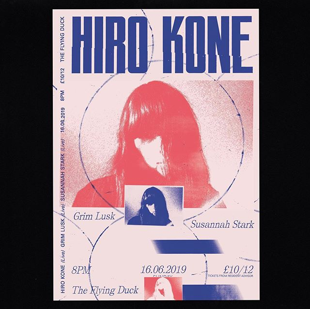 Hiro Kone (Dais Records) @hk_patchbae @daisrecords  is playing in the venue next month with @grimlusk and @susannah.stark tickets £10/12 from @resident_advisor ✍️poster design by @mushetofernandez 😍