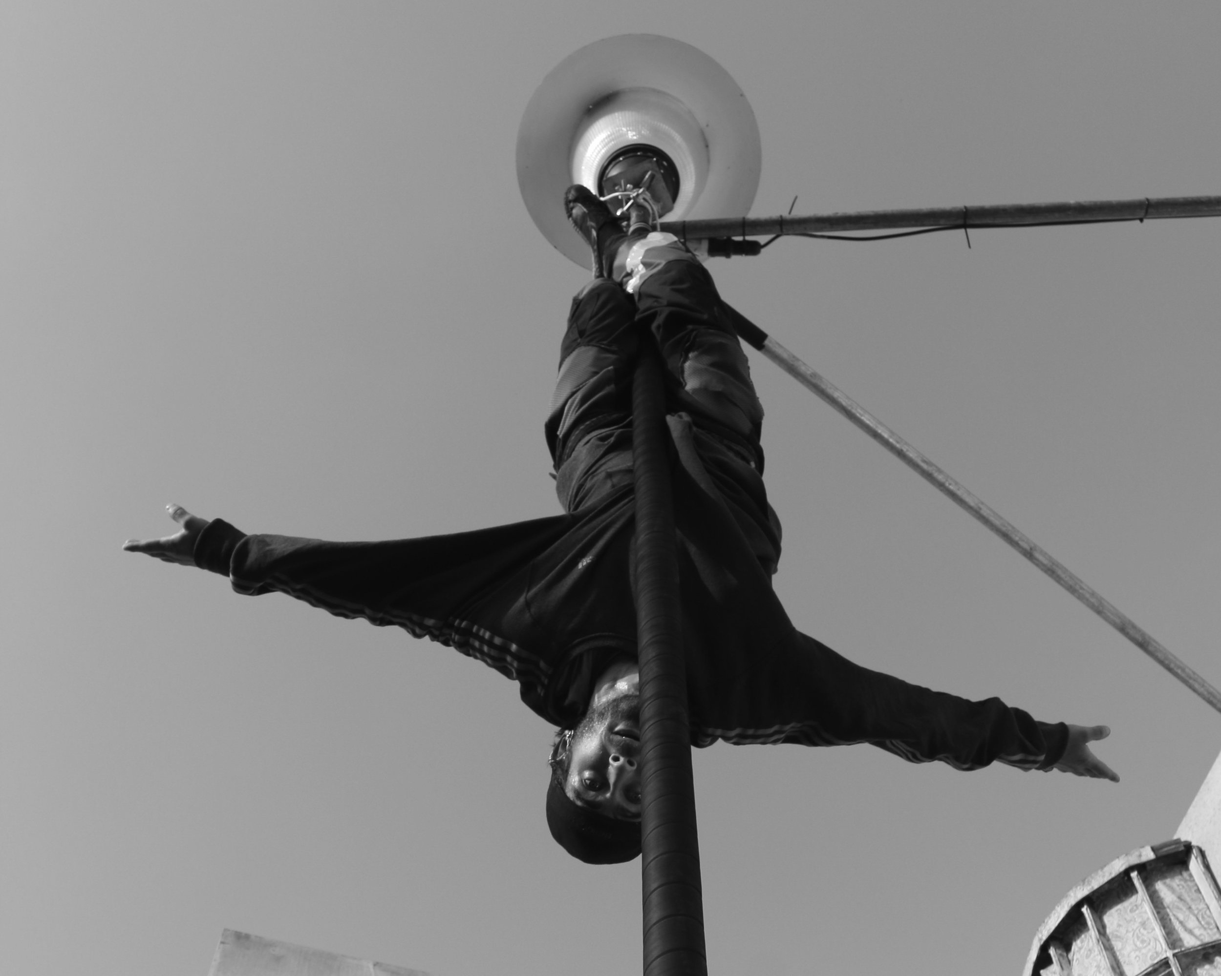 Jake Dumpleton   Circus performer, citizen of the world and always an optimist. Travelled the world from a young age and looks forward to seeing more of it.  Concrete Playgroun d