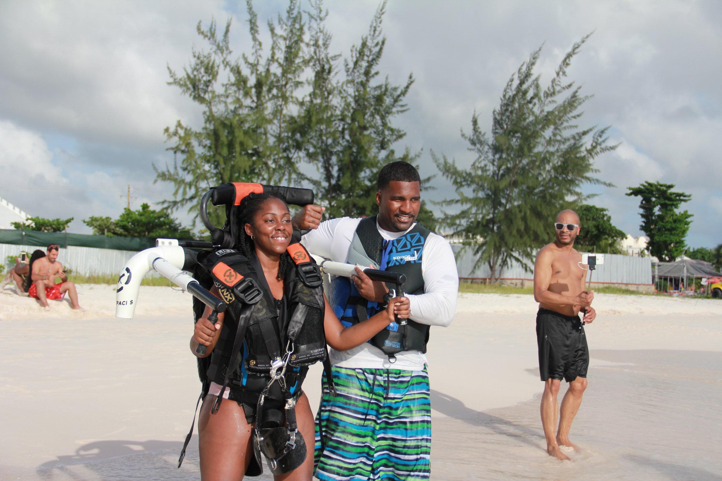 Jetblading in Barbados