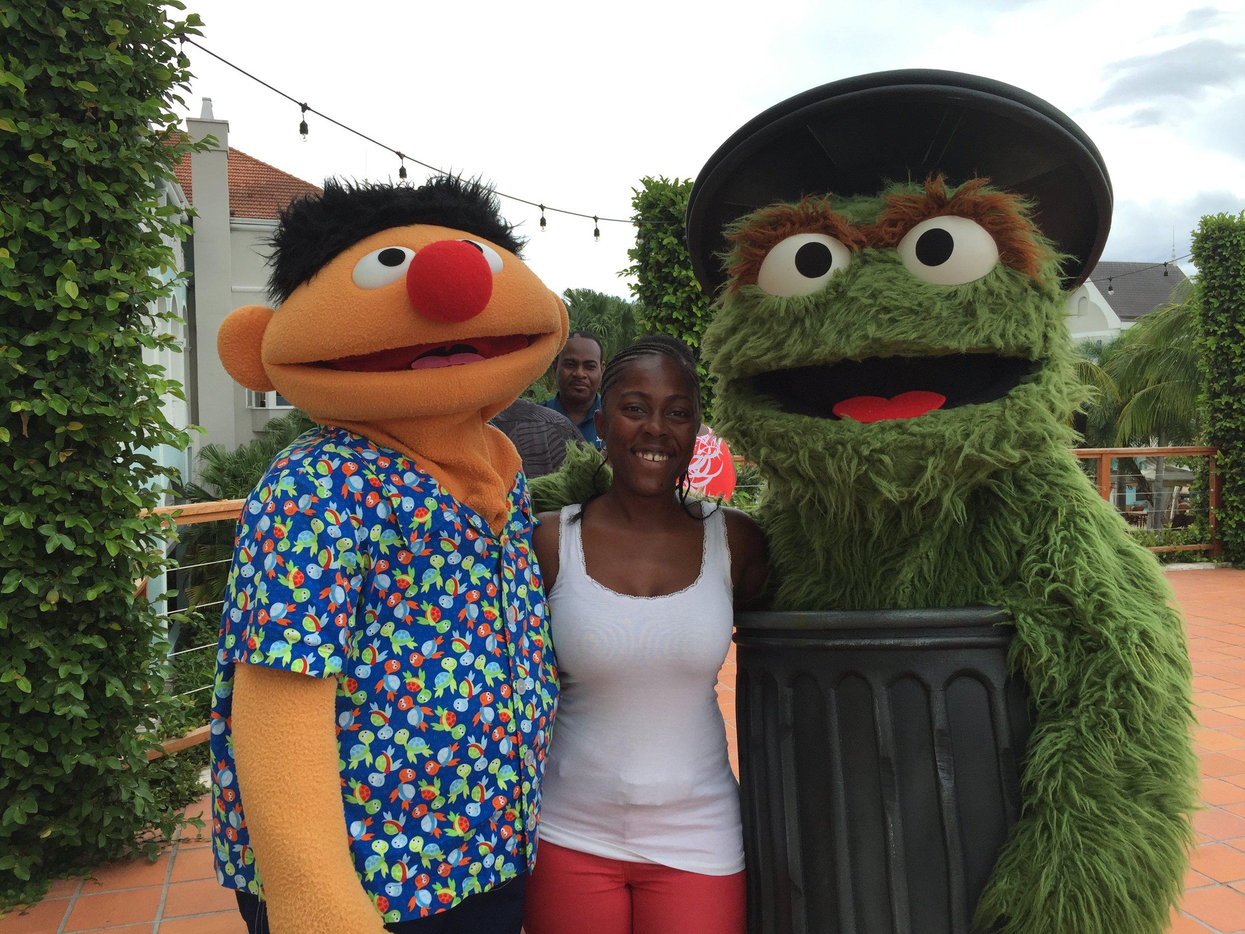 Bert & Ernie at Beaches Resorts in Jamaica