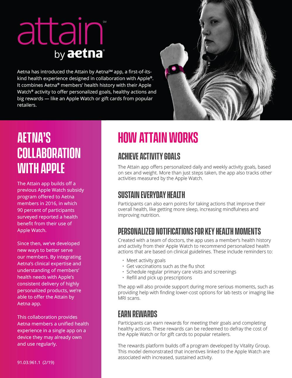 Attain App campaign