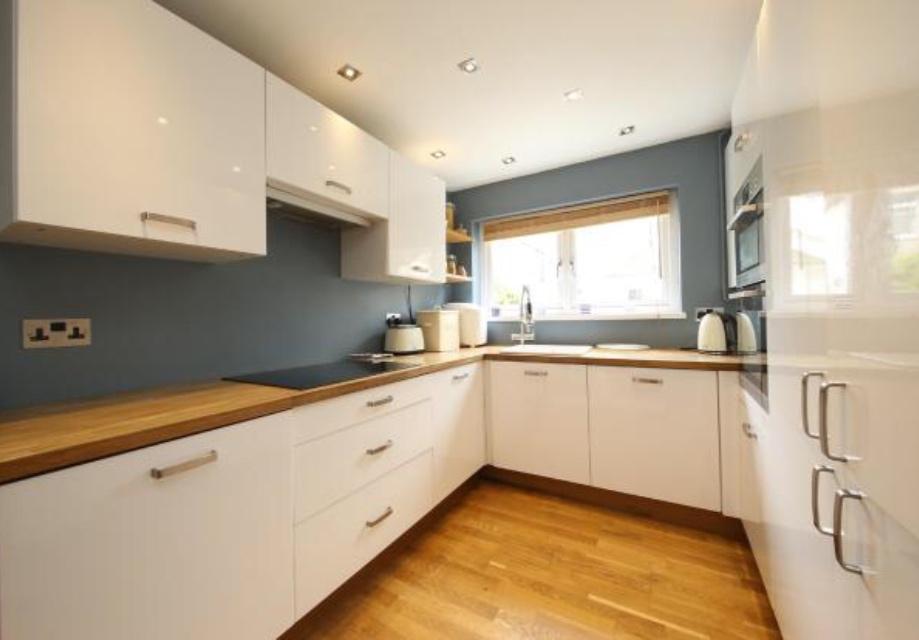 minimalist kitchen - no bin in sight!