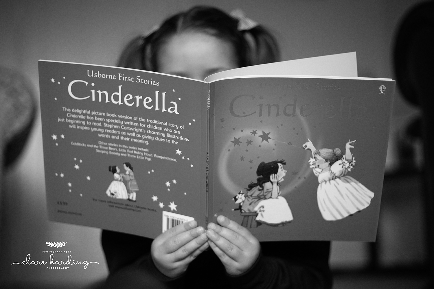 Child reading a book - South Wales Family Photographer