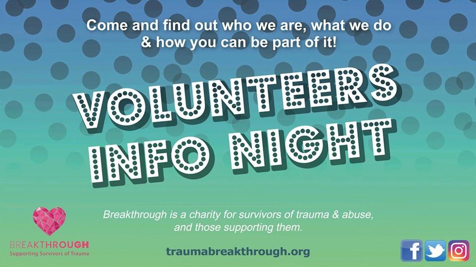 Volunteers Info Night