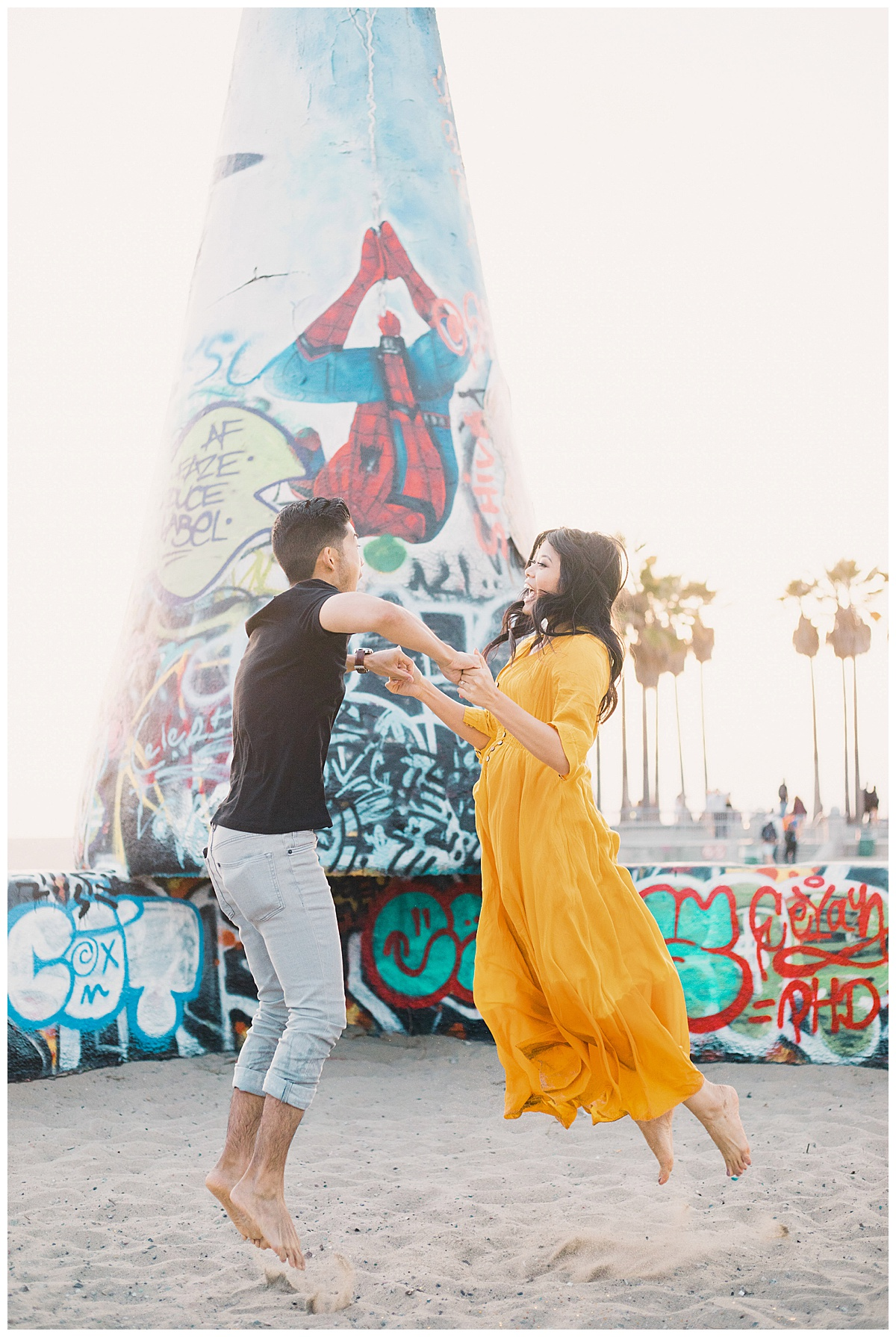 Venice Beach Photographer, Venice Beach Engagement, Venice Beach Canals Engagement, Venice Beach Wedding Photographer, Venice Beach Canals Engagement, Colorful Engagement Photographer, What to wear for engagement photos, Unique engagement photos, creative engagement photos, engagement photo ideas, Engagement photo outfits, Engagement Picture Outfits, Engagement pictures, save the date pictures