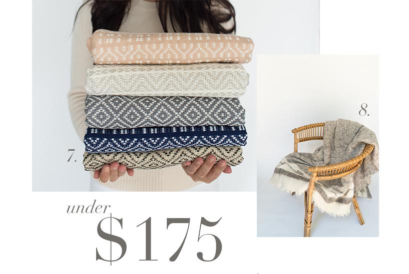 7. Mexican Cotton Throws  |  8. Grey Chamarra Blanket