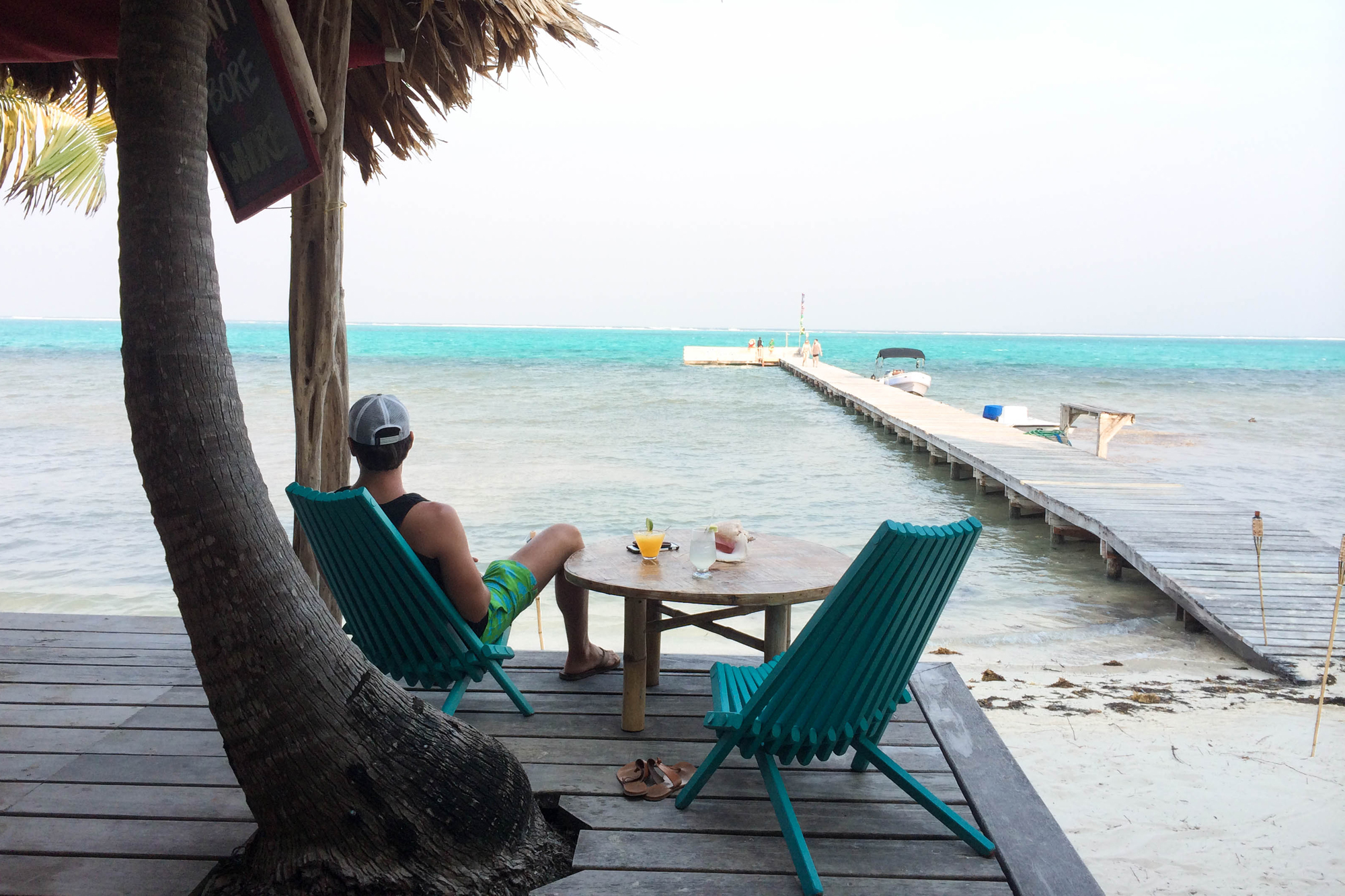 Above: The laid back and rum-inspired Rojo Beach Bar, also a must-stop on Ambergris Caye.
