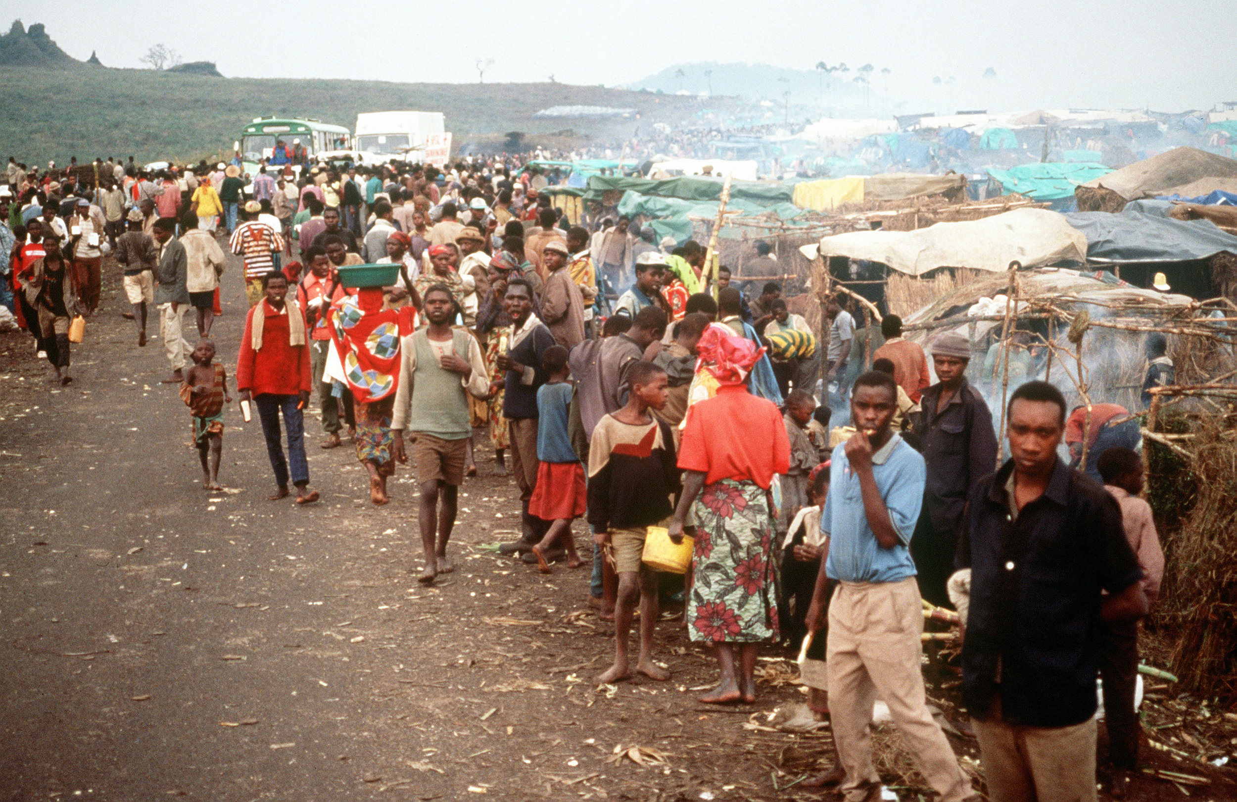 A refugee camp in the eastern Democratic Republic of the Congo, 1994. Photo: U.S. Archives.