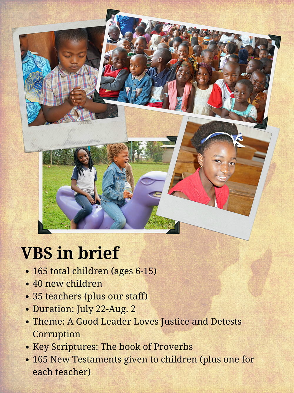 Future Hope Africa infographic VBS