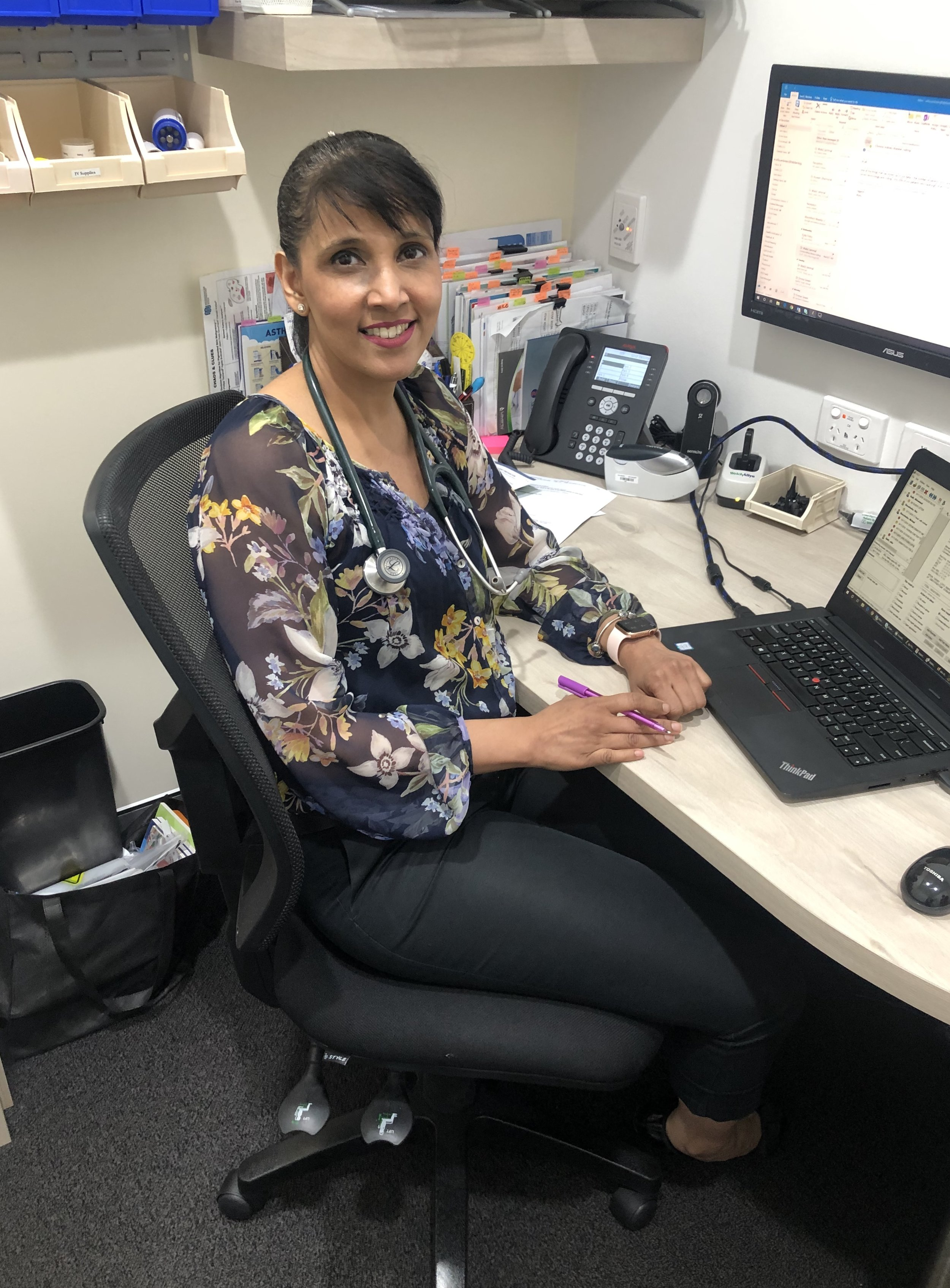 Dr Sofia Ambreen - MBBS (Pakistan) Dip, Australasian College of Skin Cancer Medicine MRCGP (UK) DRCOG F.R.A.C.G.P Dip, Child Health Dip. Child Health ( UK)Dr Ambreen completed her medical degree in Pakistan. She then went to England where she worked for many years. During this time she gained several qualifications, including DCH, from the Royal College of Paediatrics & Child Health, DRCOG from the Royal College of Obstetricians and Gynecologists, DFFP from the Faculty of Sexual and Reproductive Healthcare. Dr Ambreen has also attained her MRCGP from the Royal College of General Practice in the United Kingdom. In Australia Dr Ambreen has continued her advanced education and has gained a Diploma from the Australasian College of Skin Cancer Medicine and a Fellowship from the Royal Australian College of General Practice. Dr Ambreen has a strong interest in Skin Cancer Medicine, including diagnosis with skin checks and excision. She is also interested in Gynecology and is qualified to insert IUD's.
