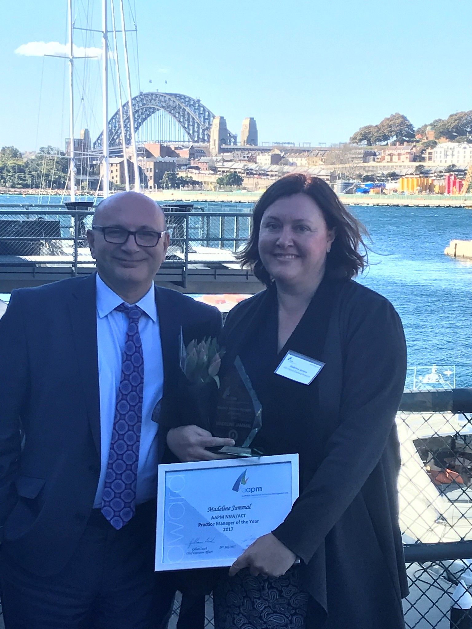 Madeline Jammal- Practice Manager of the Year 2017 NSW/ACT - We are pleased to announce that Madeline Jammal was awarded AAPM NSW/ACT Practice Manager of the Year 2017.