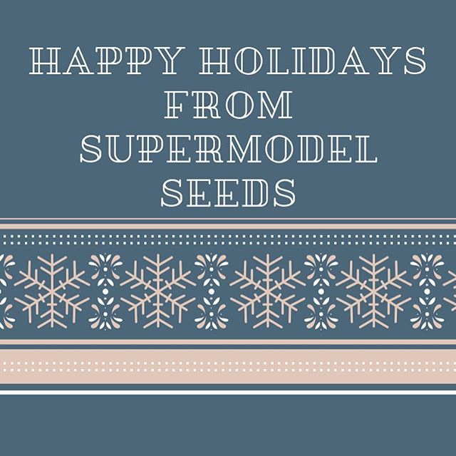 Wishing everyone a happy holiday! ❤️🌿❤️ . . . . . #supermodelseeds #genetics #fullspectrum #holiday #farmfamily