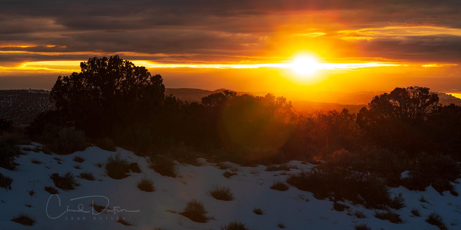 Sunset captured near Kanab, Utah