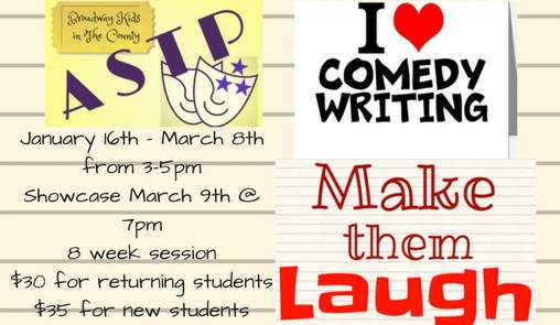 Comedy Writing - Zoey Violette, Wyatt Henderson & JoLea Robinson wrote their own comedy plays! Click here for videos of the plays!