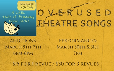 Overused Theatre Songs - This revue featured musical theatre songs that maybe are a little too popular.Click here for photos and videos from the show!