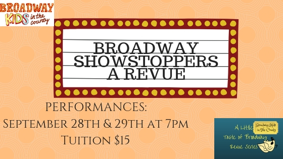 Broadway Showstoppers! - This revue featured songs that tend to stop their respective show.Click here for photo and videos from the show!