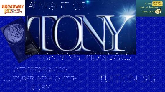 A Night of Tony Winning Musicals - The revue featured songs from Broadway musicals that won the Best Musical Tony Award! Click here for photos and videos from the show!