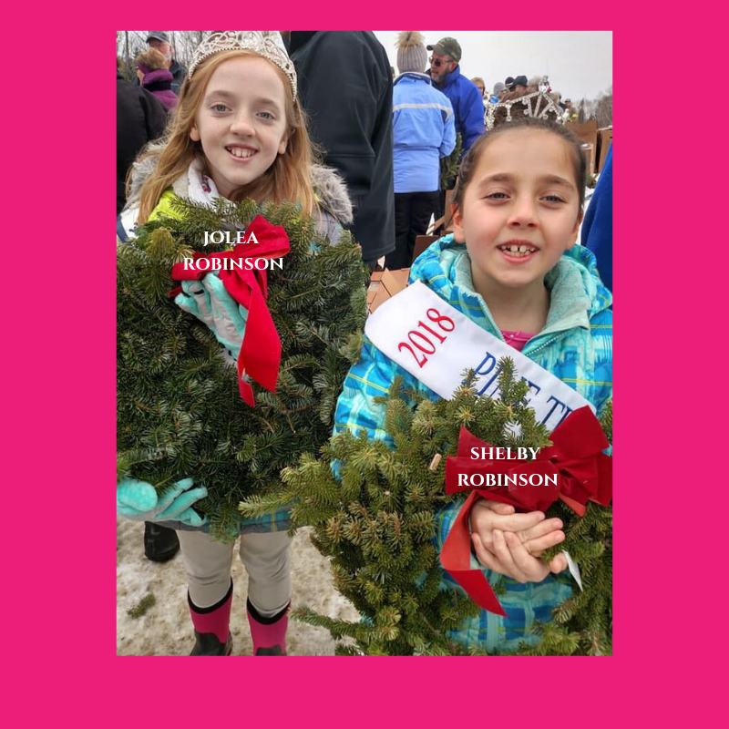 Girl Scouts laying wreaths for Wreaths Across America -
