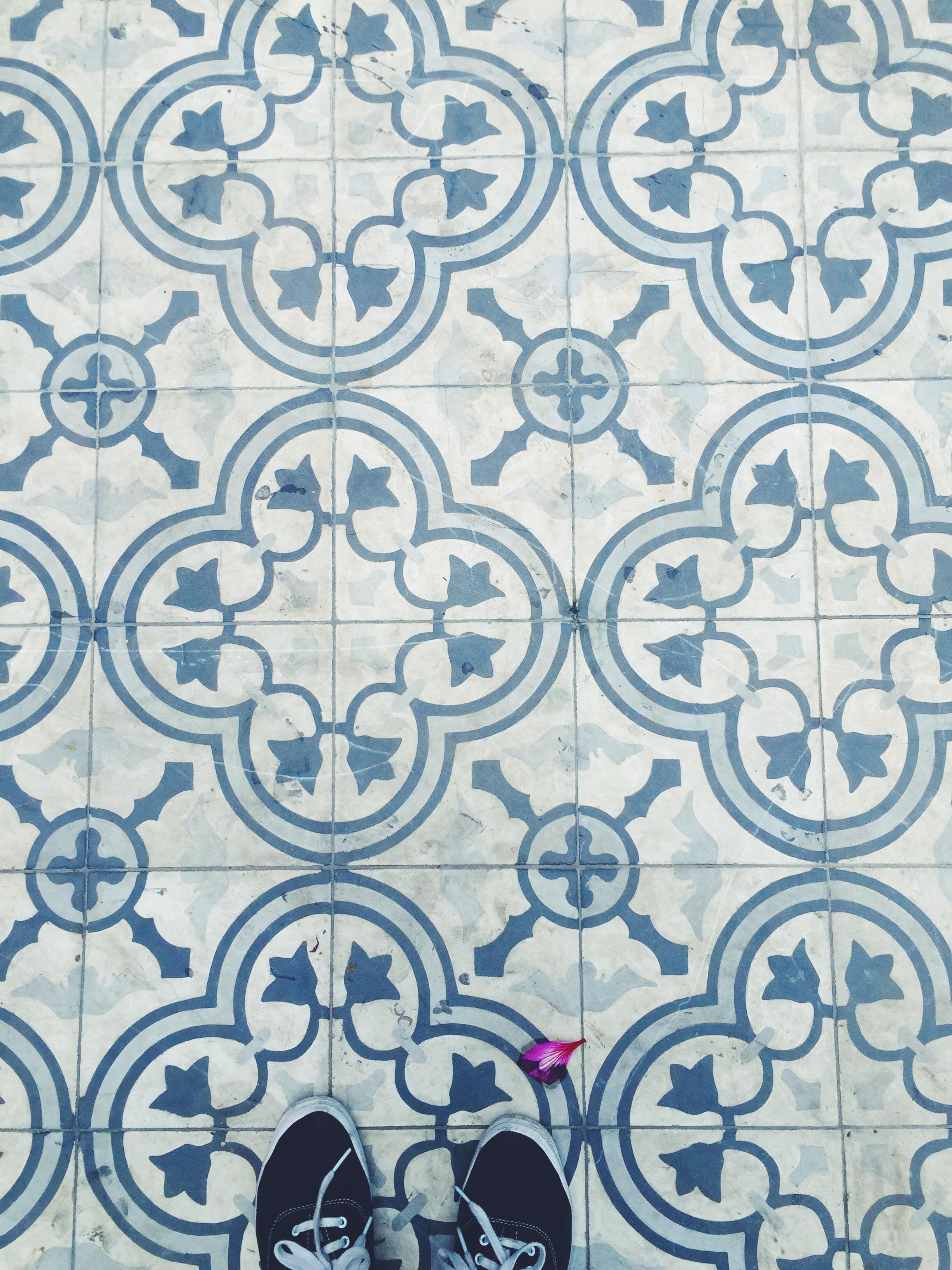 Encaustic tiles in Colonia Roma