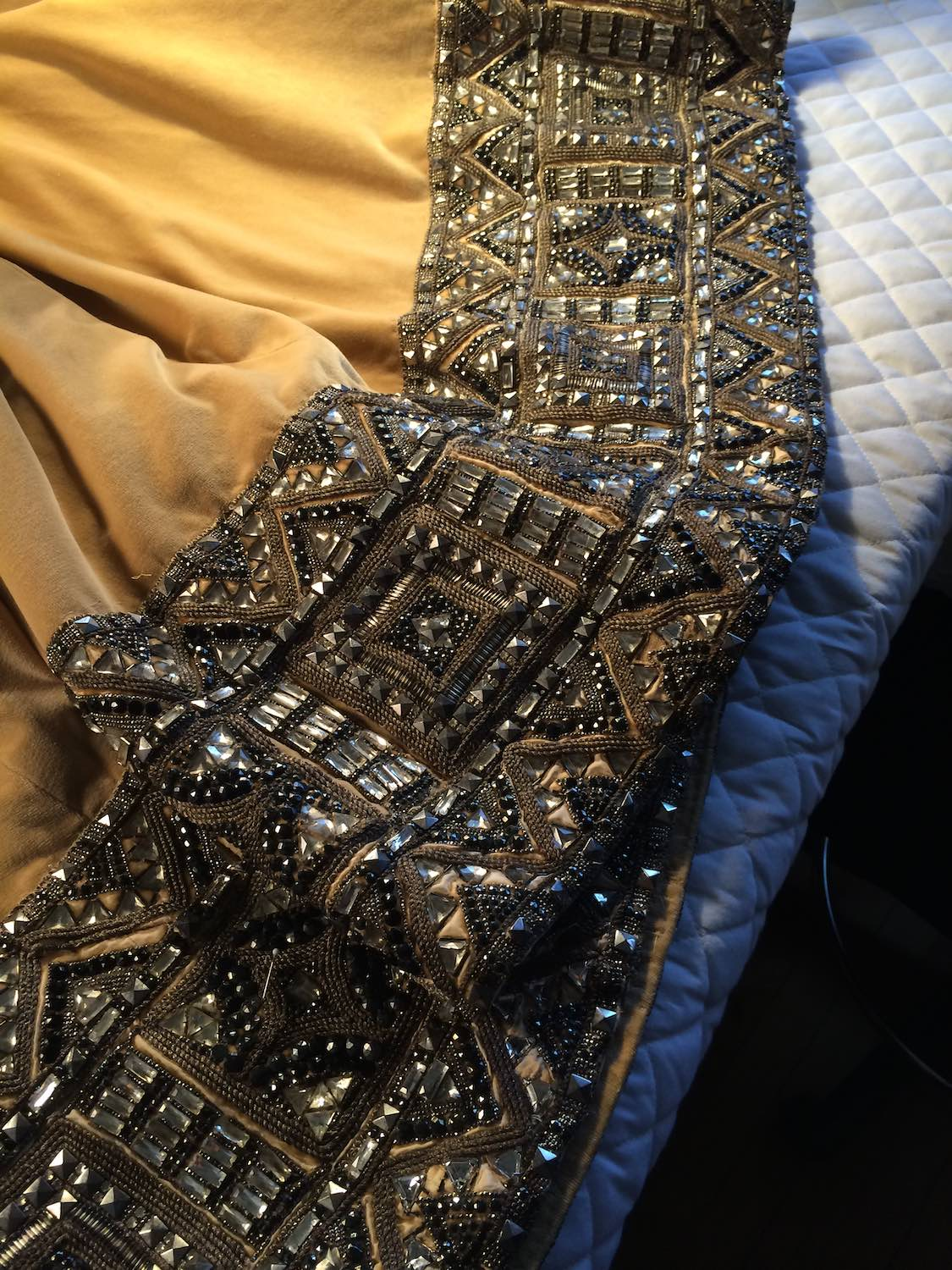 Here is a close-up of hem from Greta Garbo's costume. The gown weighed 65 pounds. This gown is a true testament to what a costume designer's team can create.