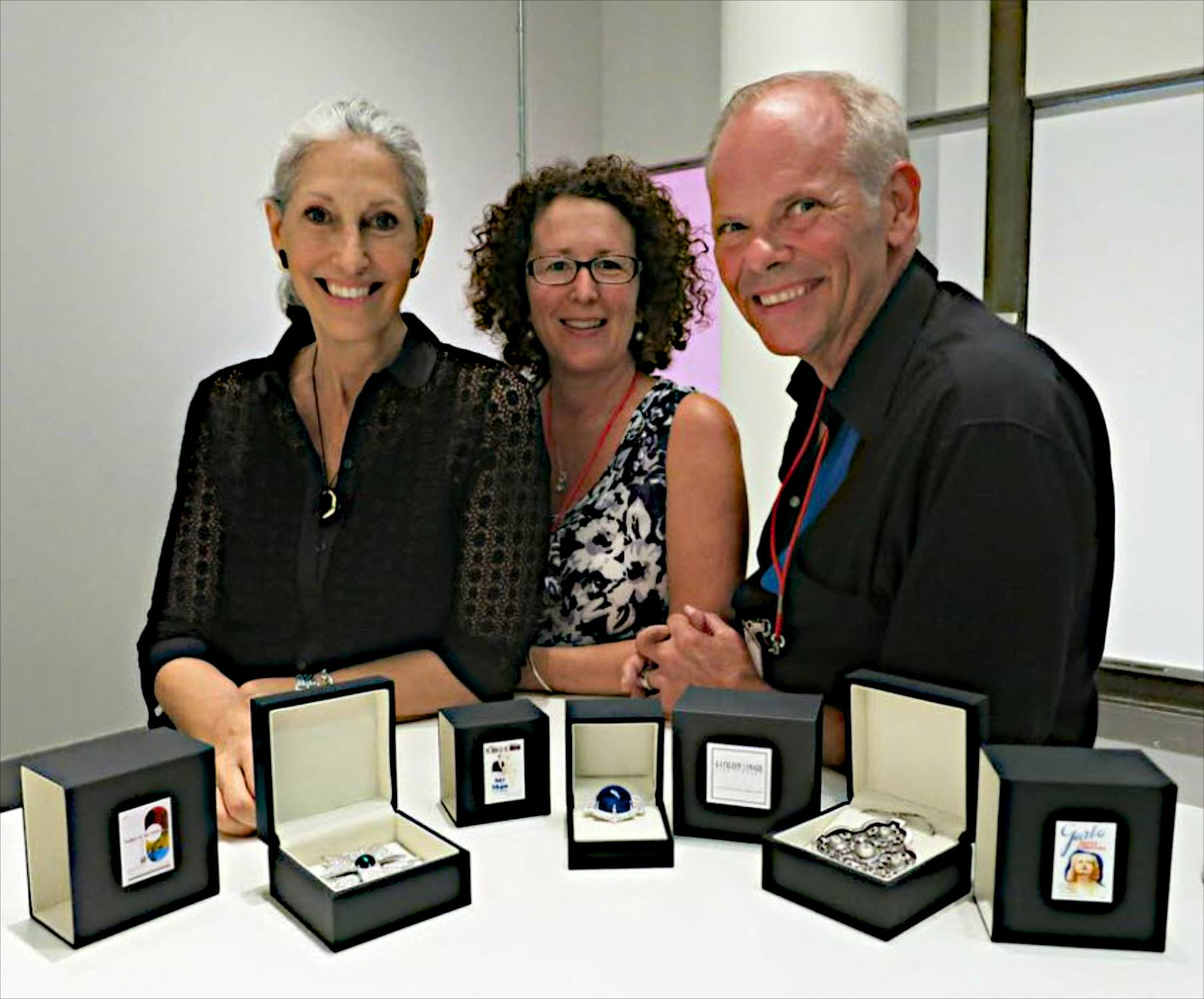 Jewelry presentation at the Academy Museum of Motion Pictures, Deborah Nadoolman Landis, Kathleen Lynagh House and Larry McQueen