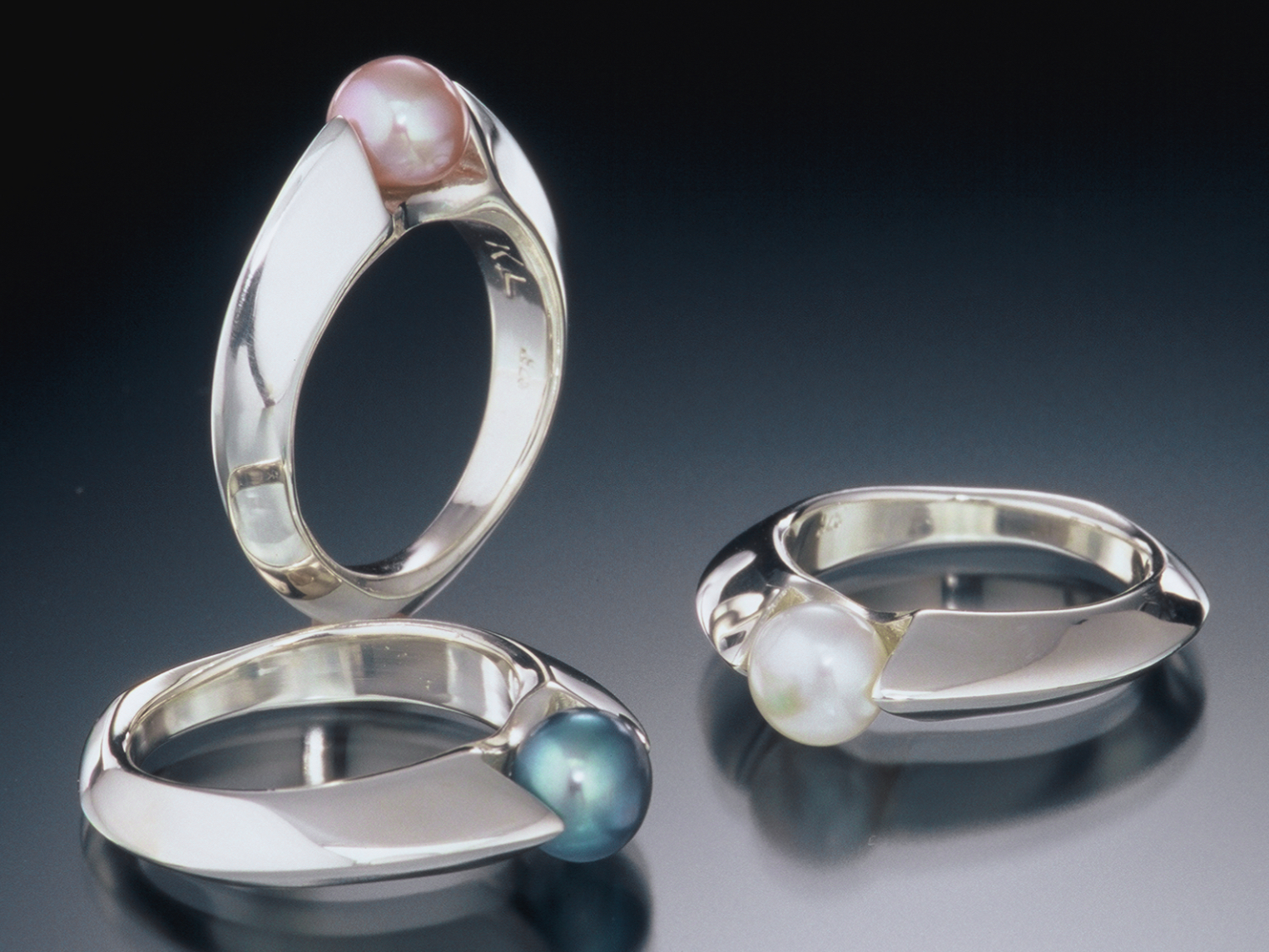 """One of our signature designs set with a pearl - the sterling silver """"Slim"""" pearl ring"""