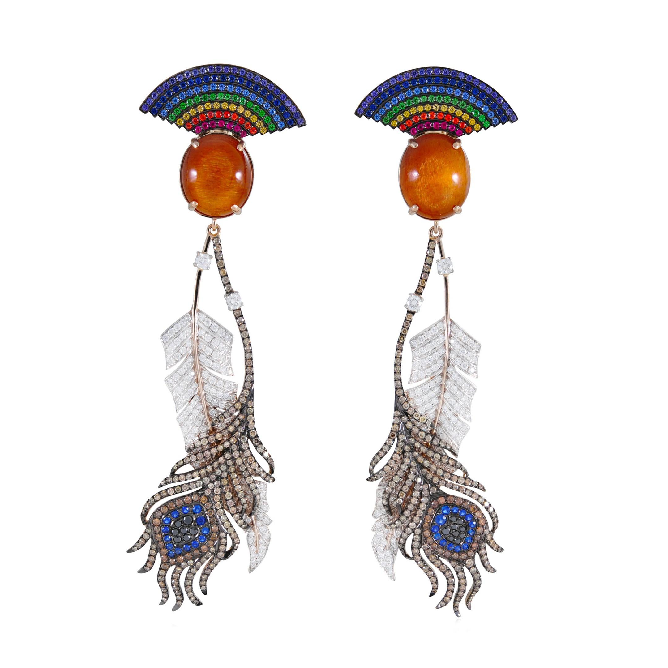 Lydia Courteille - rainbow warrior earrings