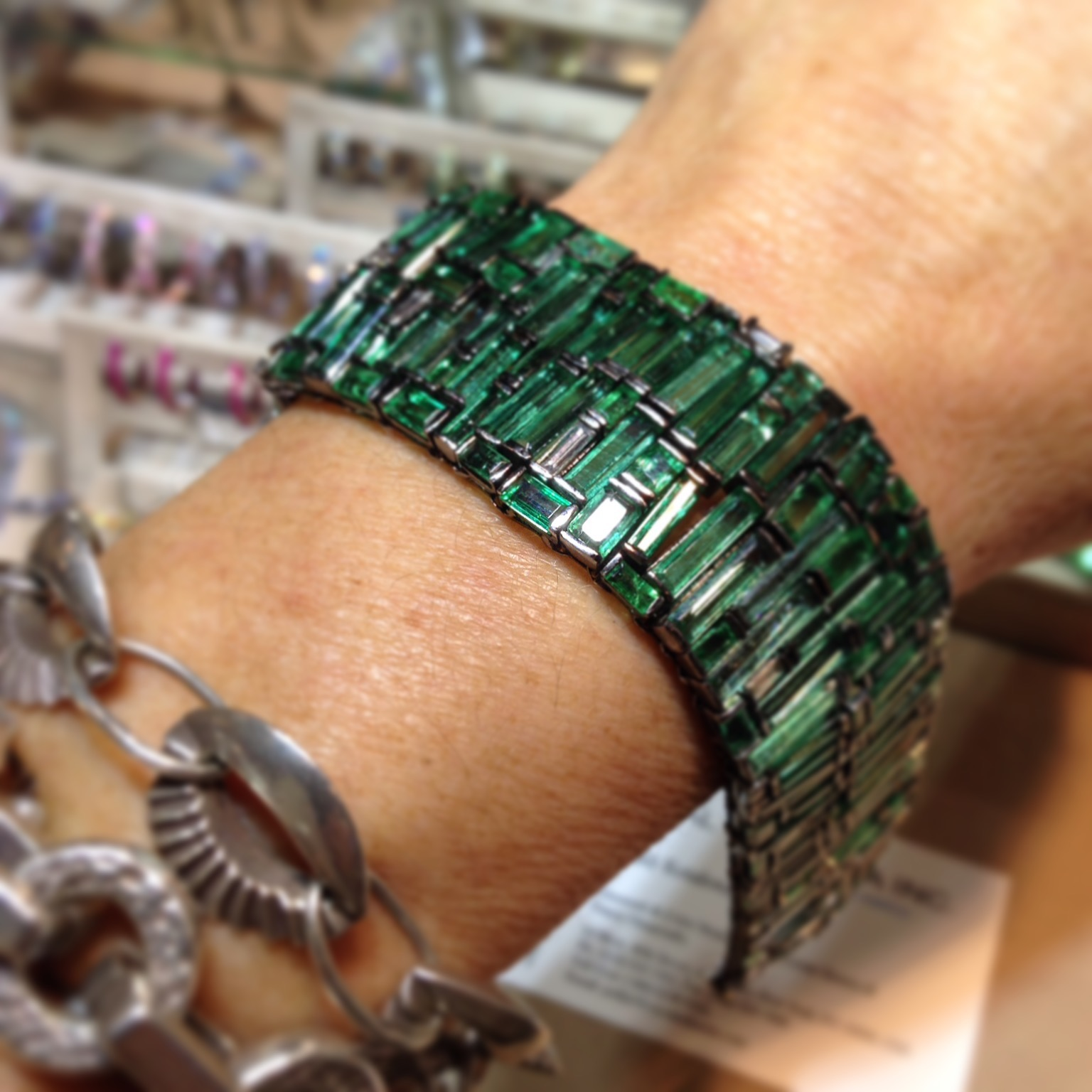 Emerald bracelet - on my wish list for certain