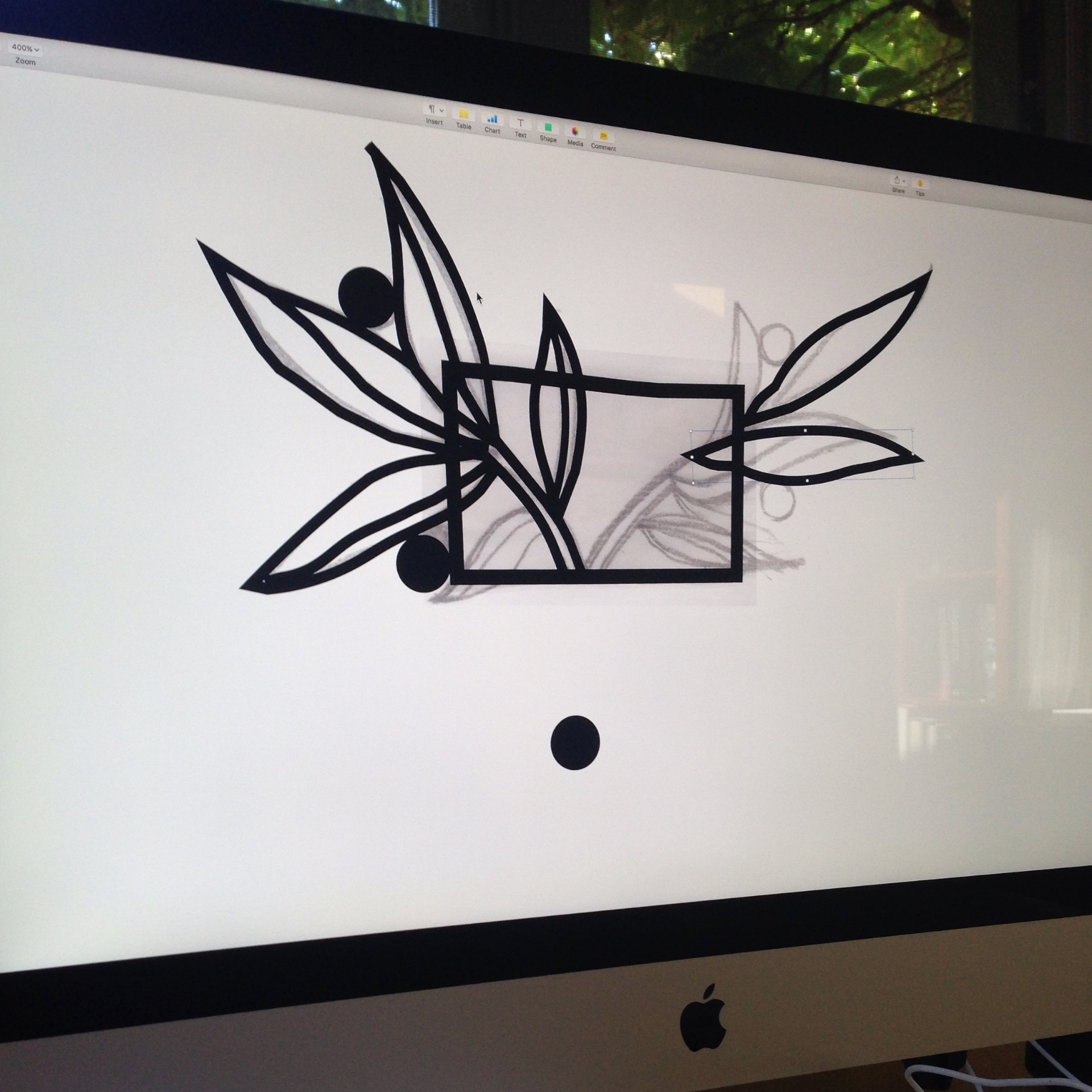 Adobe Illustrator was useful in created the template for cutting the metal.