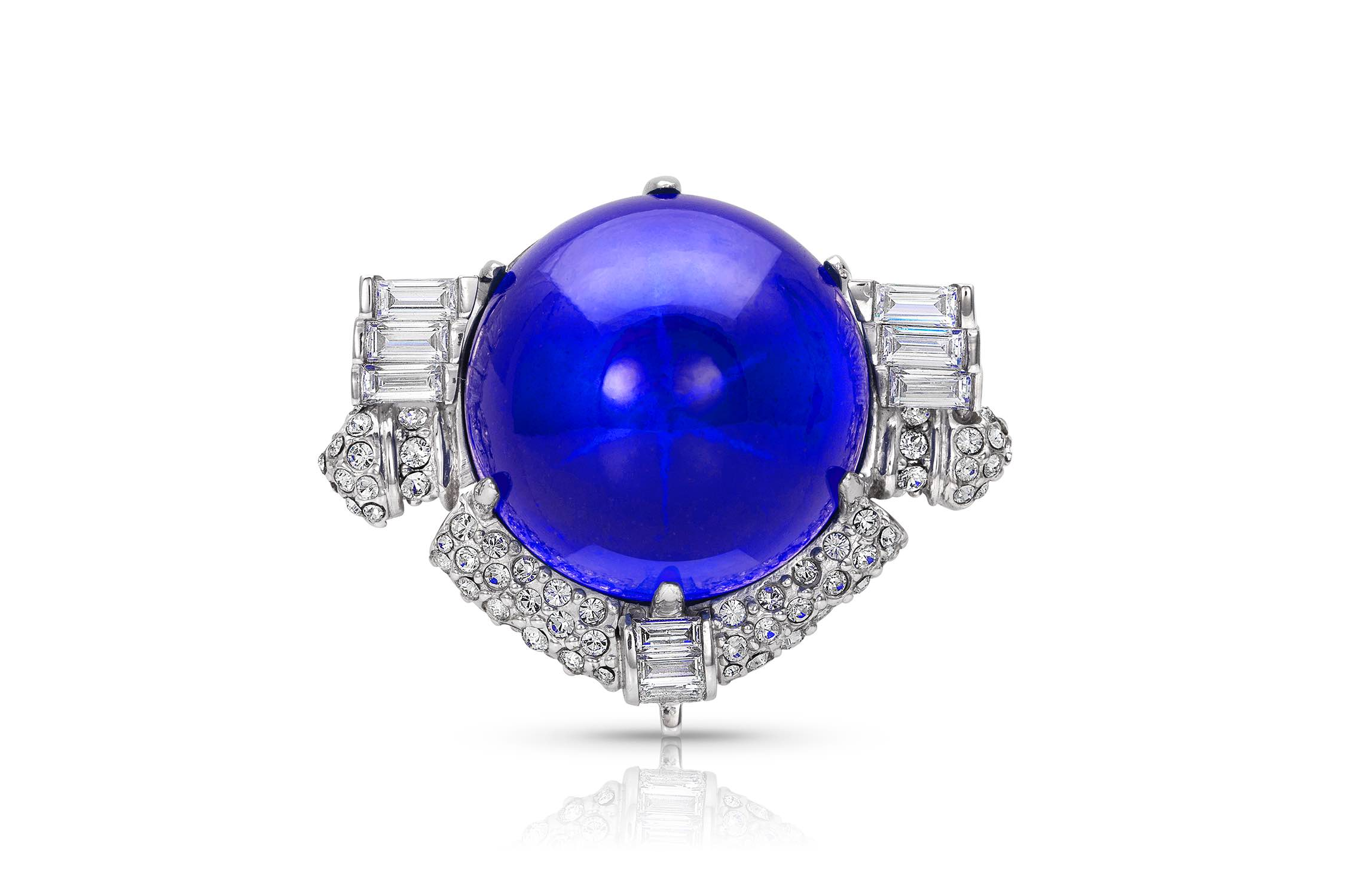 Kathleen Lynagh created this replica Carole Lombard Star Sapphire brooch