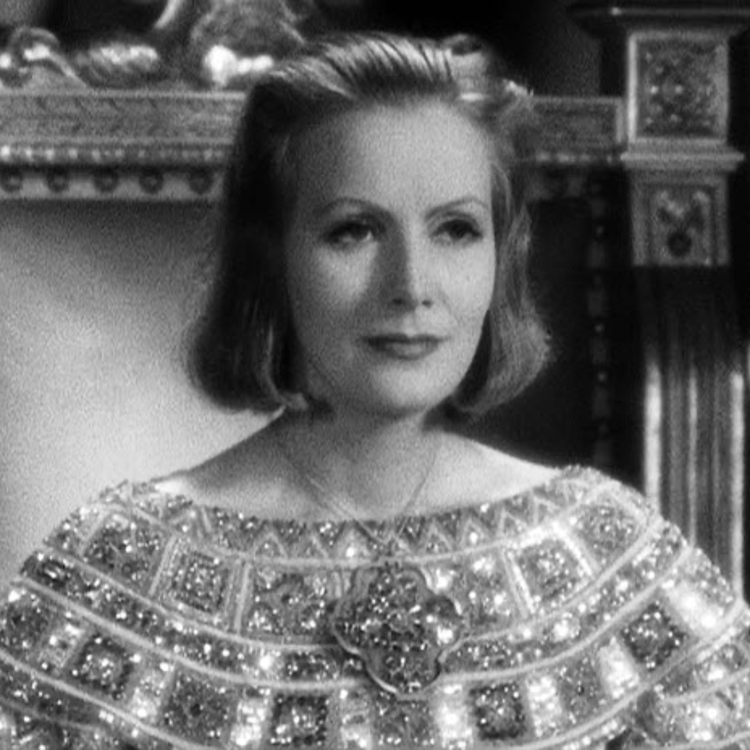 "Great Garbo in the film classic ""Queen Christina"""