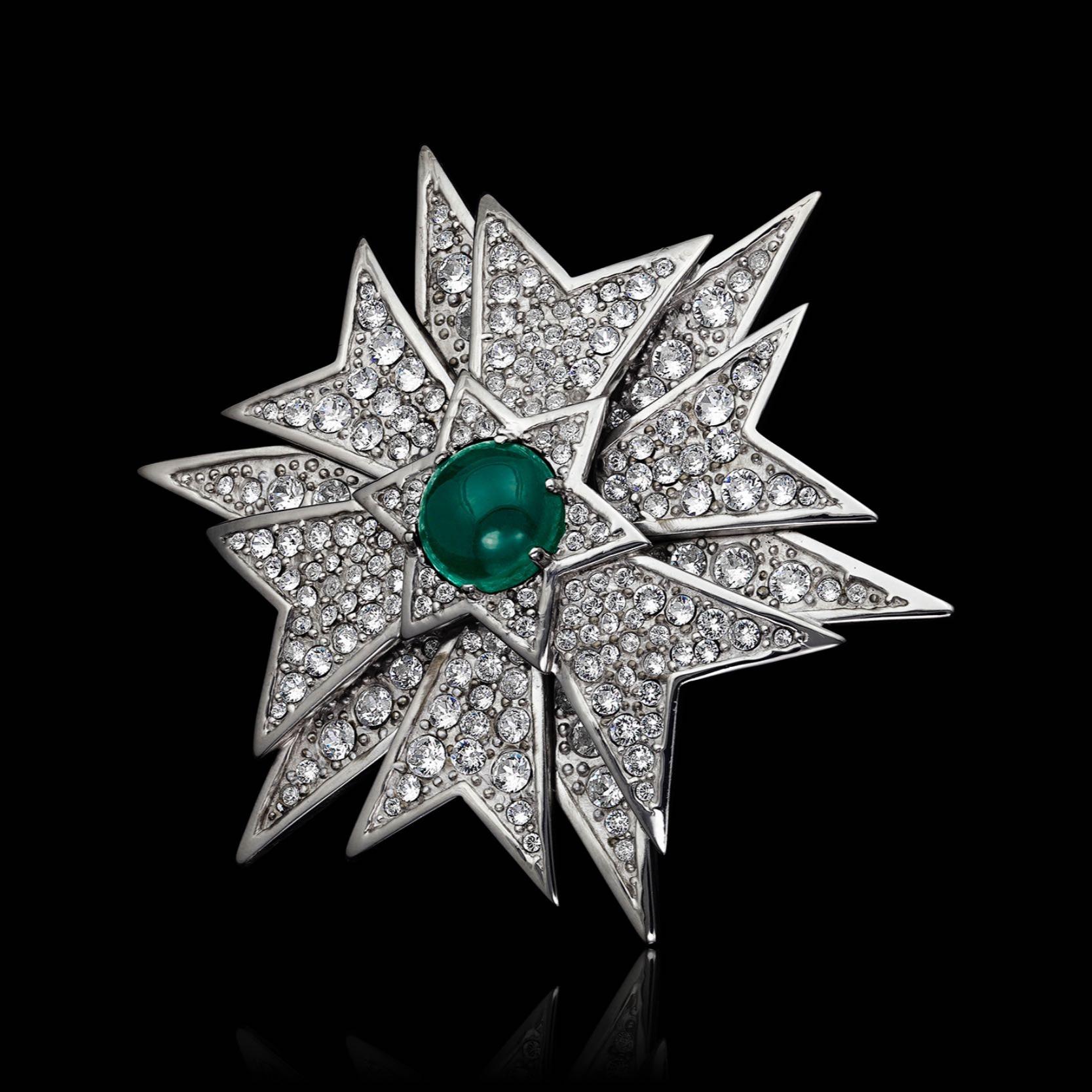 "Susan Hayward's Diamond & Emerald Star Brooch from ""Valley of the Dolls"""